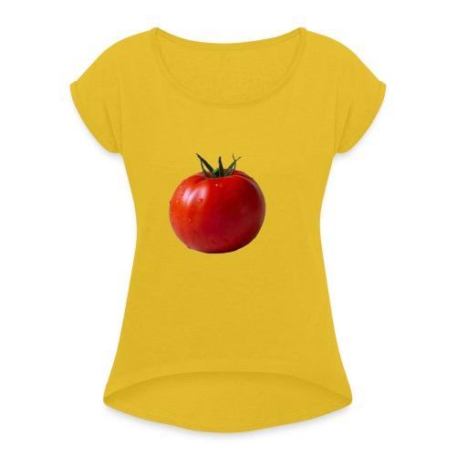 tomato PNG12596 - Frauen T-Shirt mit gerollten Ärmeln
