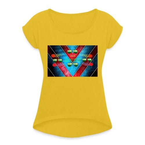t-shirt voor jongens En meisjes - Vrouwen T-shirt met opgerolde mouwen