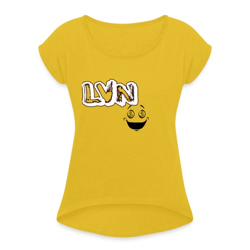 LoGoTest - Vrouwen T-shirt met opgerolde mouwen