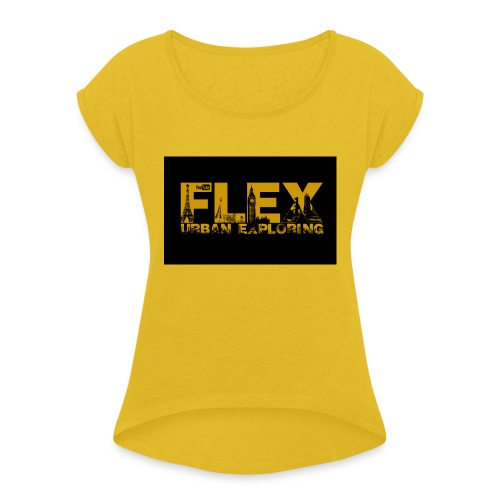 FlexUrban - Women's T-Shirt with rolled up sleeves