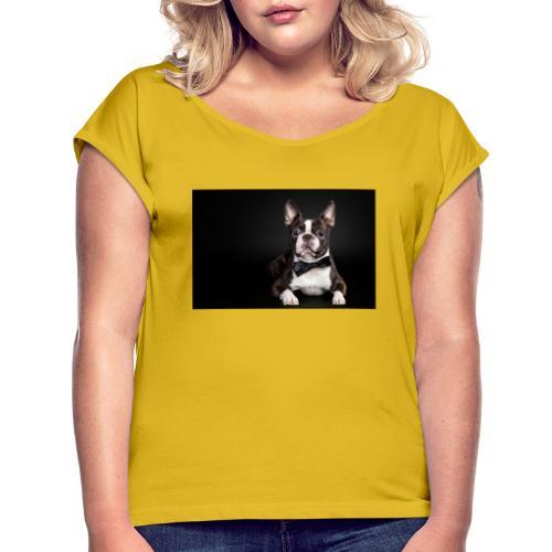 BIG DOG - Camiseta con manga enrollada mujer