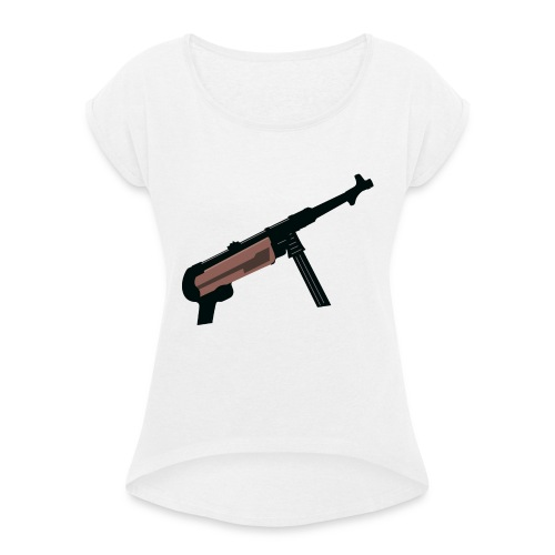 Mp40 german gun maschinenpistole 40 - Women's T-Shirt with rolled up sleeves