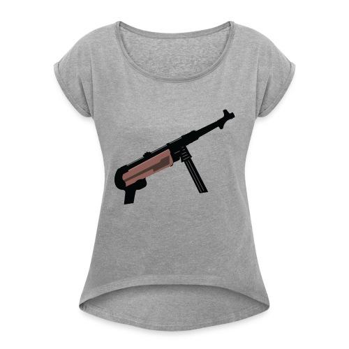 Mp40 german gun maschinenpistole 40 - Women's T-Shirt with rolled up sleeves