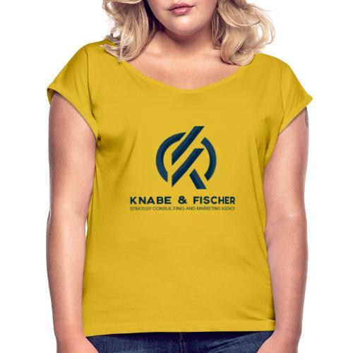 Krasses Design - Frauen T-Shirt mit gerollten Ärmeln