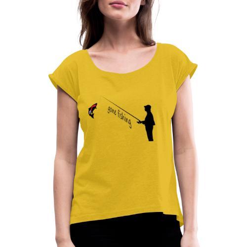 team norge 21 - Frauen T-Shirt mit gerollten Ärmeln