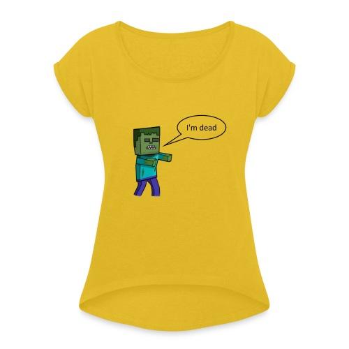 T - Short - T-skjorte med rulleermer for kvinner
