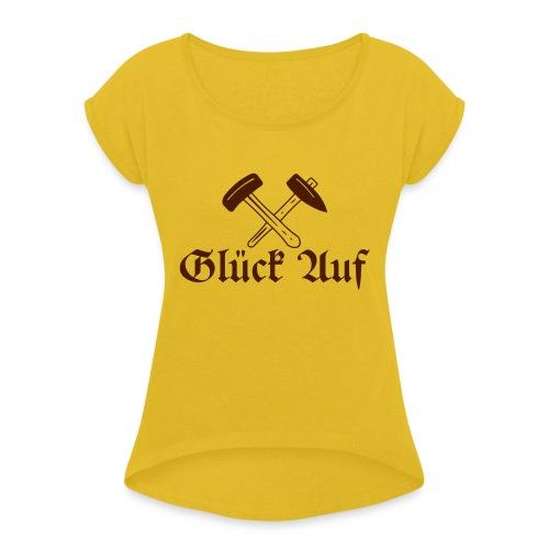 S E Briccius - Frauen T-Shirt mit gerollten Ärmeln