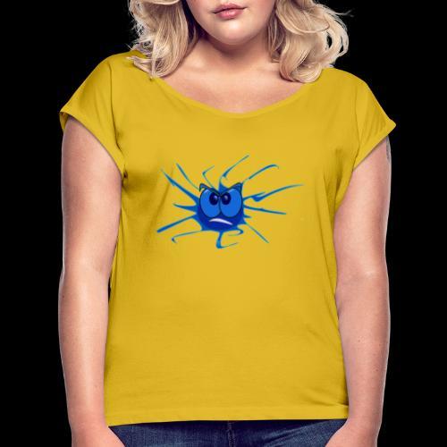emoticons - Frauen T-Shirt mit gerollten Ärmeln