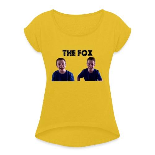 THE FOX - Deluxe Damesshirt - Vrouwen T-shirt met opgerolde mouwen
