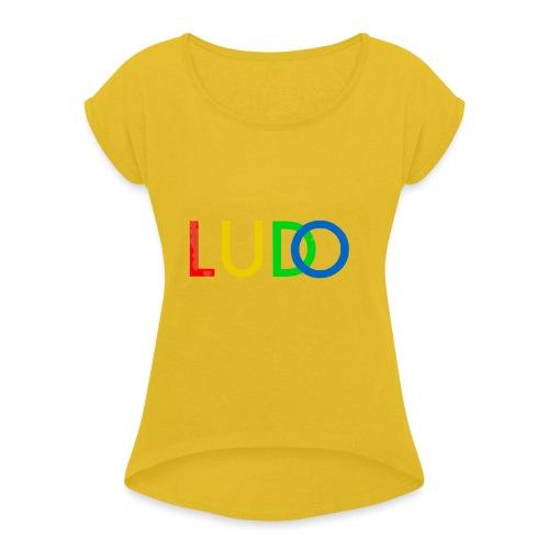 LUDO - T-skjorte med rulleermer for kvinner