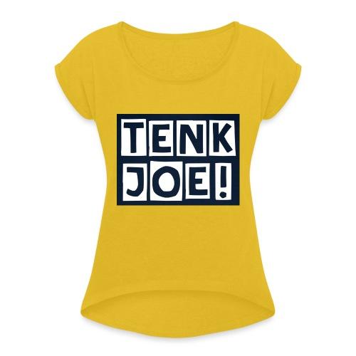 Tenkjoe - T-shirt à manches retroussées Femme
