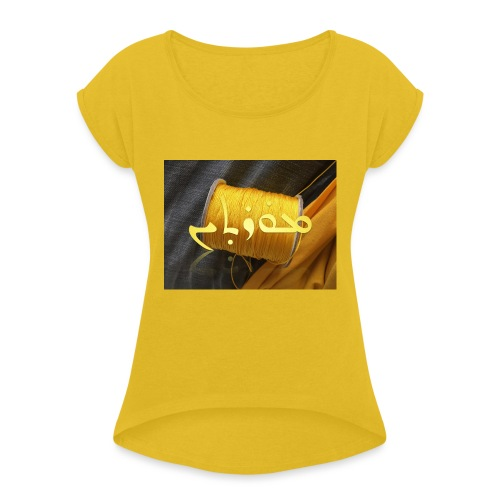 Mortinus Morten Golden Yellow - Women's T-Shirt with rolled up sleeves