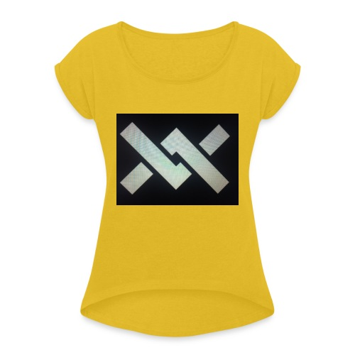 Original Movement Mens black t-shirt - Women's T-Shirt with rolled up sleeves