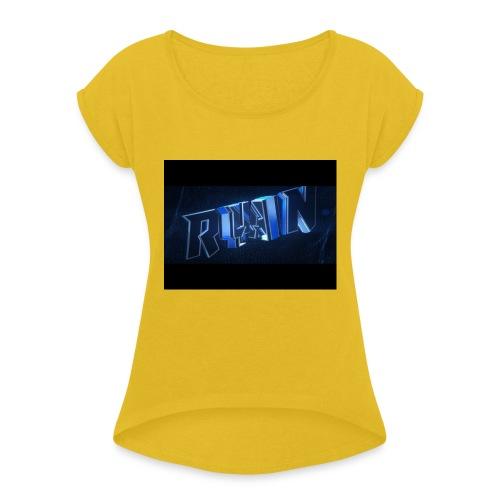 Ryan murch - T-skjorte med rulleermer for kvinner