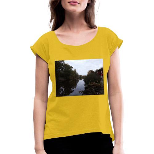 Wadköping, Svartån Örebro - T-shirt med upprullade ärmar dam