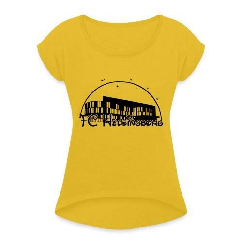 fchdosney - T-shirt med upprullade ärmar dam