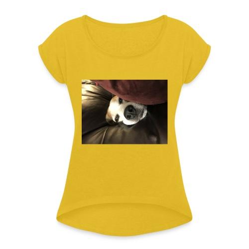 Perito - Camiseta con manga enrollada mujer