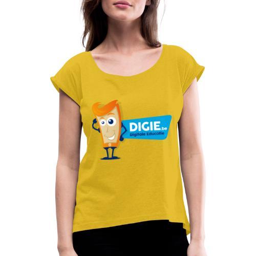 Digie.be - Vrouwen T-shirt met opgerolde mouwen