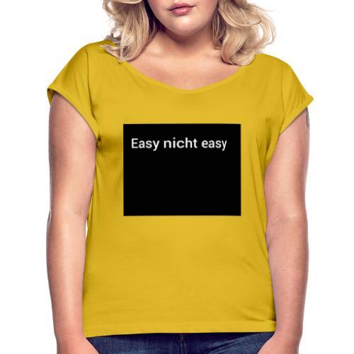 Polish 20200622 182117816 - Frauen T-Shirt mit gerollten Ärmeln