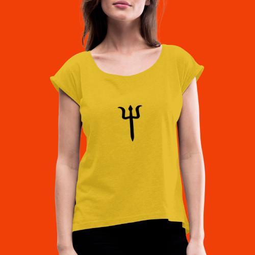 TRIDENTE - Camiseta con manga enrollada mujer
