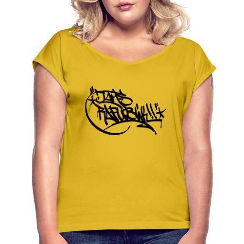 1 - Frauen T-Shirt mit gerollten Ärmeln