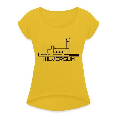 PIXEL Hilversum gemeentev2 - Vrouwen T-shirt met opgerolde mouwen