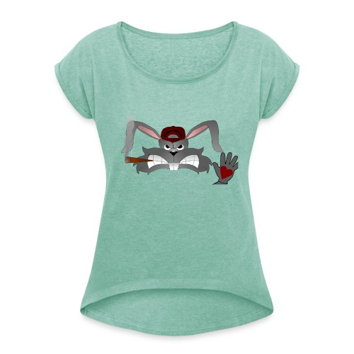 Hallo How are you - Dame T-shirt med rulleærmer