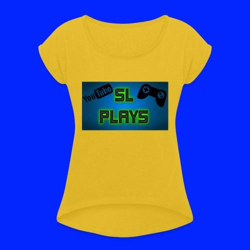 SL Plays musematte - T-skjorte med rulleermer for kvinner