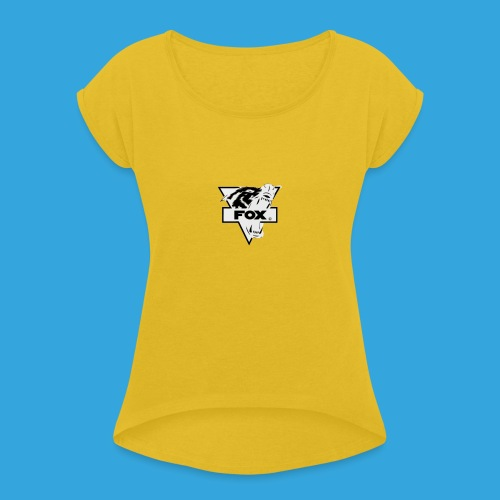 Fox - Pet - Vrouwen T-shirt met opgerolde mouwen