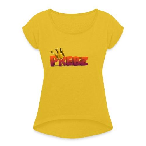 logog_preben - T-skjorte med rulleermer for kvinner