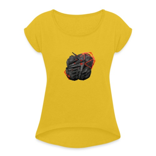 TaMiSFX's Logo with Textures - Women's T-Shirt with rolled up sleeves