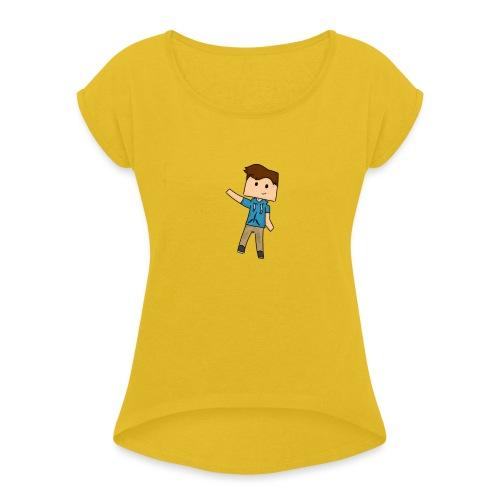 IMG_0784 - Vrouwen T-shirt met opgerolde mouwen