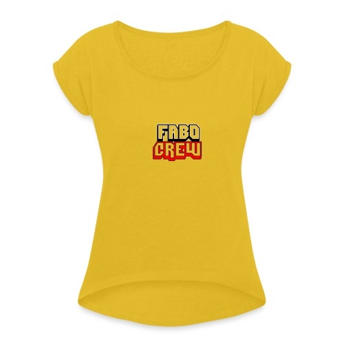 Fabo Crew Merch - Frauen T-Shirt mit gerollten Ärmeln
