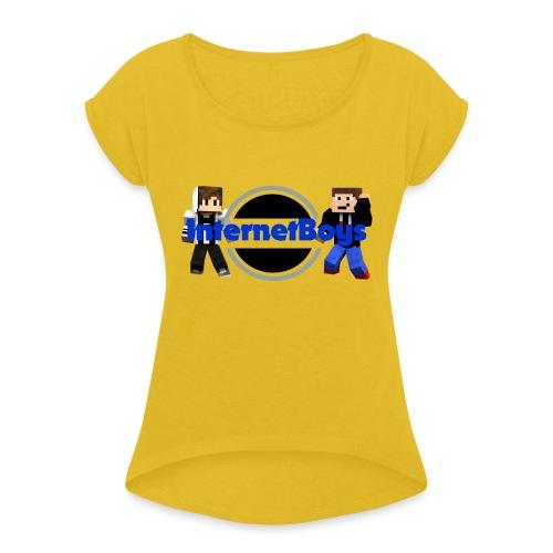 InternetBoys Merch - Frauen T-Shirt mit gerollten Ärmeln