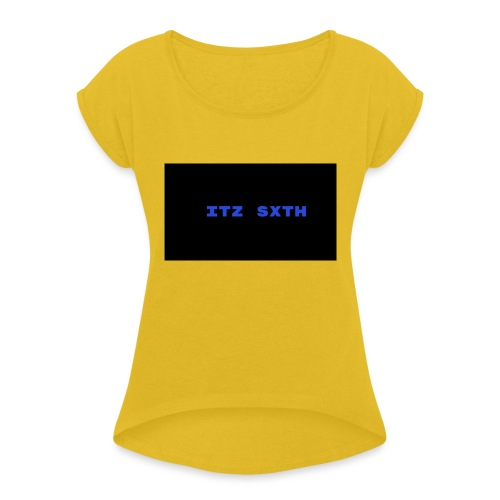 Itz Sxth Navy Clothing - Women's T-Shirt with rolled up sleeves