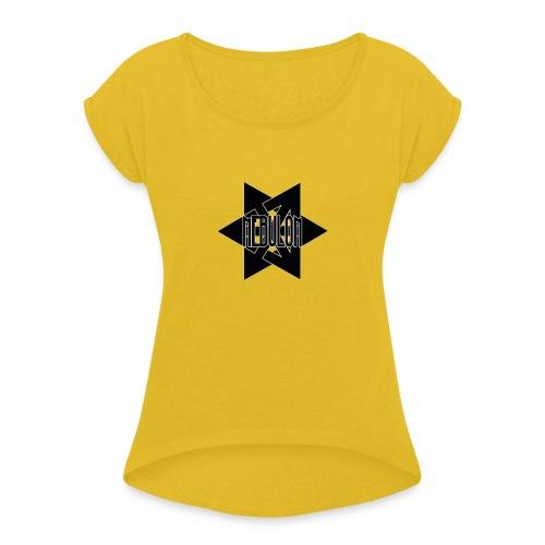 Nebulon Logo - Frauen T-Shirt mit gerollten Ärmeln