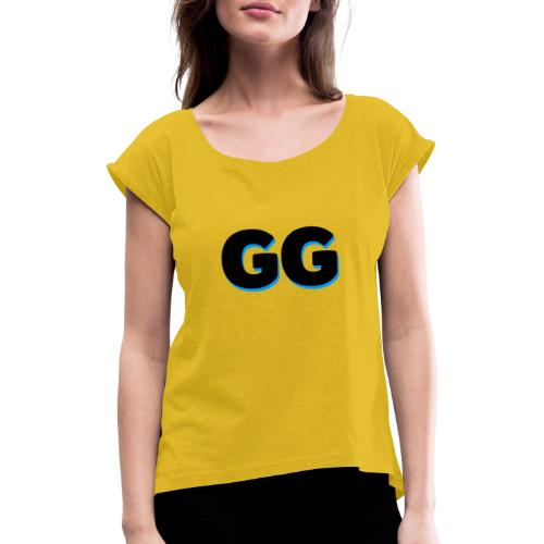 GG - Dame T-shirt med rulleærmer