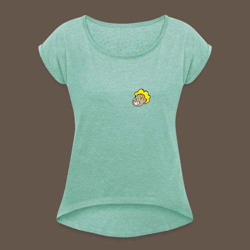 YoUniverse - T-shirt à manches retroussées Femme