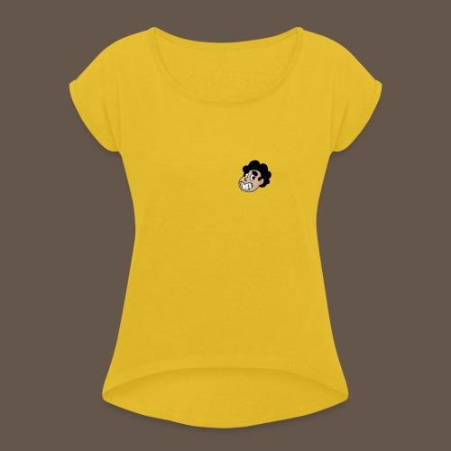 Steven le baveux - T-shirt à manches retroussées Femme