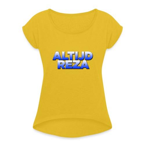 |AltijdReza teenager Short sleeve shirt 2 colors| - Vrouwen T-shirt met opgerolde mouwen