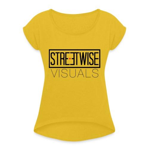 Streetwise Visuals | LONGFIT - Vrouwen T-shirt met opgerolde mouwen