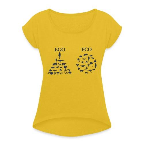 Ego VS Eco - Maglietta da donna con risvolti