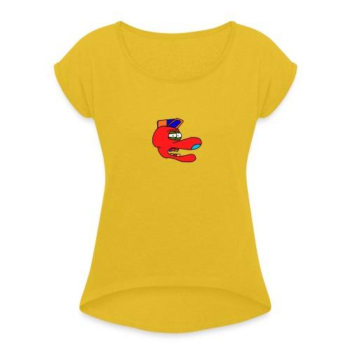 Accke - T-shirt med upprullade ärmar dam