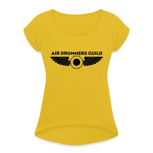ADG Drum'n'Wings Emblem - Women's T-Shirt with rolled up sleeves