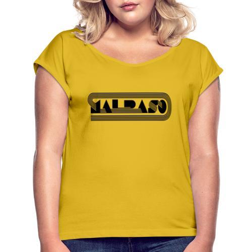 Setentas - Camiseta con manga enrollada mujer