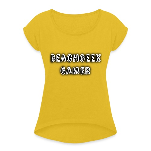 Classic BeachGeek - Women's T-Shirt with rolled up sleeves