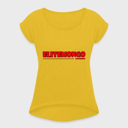 Elitemongo - Frauen T-Shirt mit gerollten Ärmeln