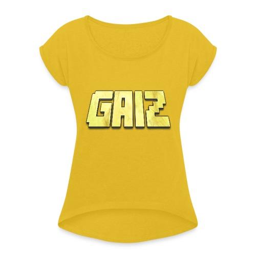 POw3r yellow-GAIZ - Maglietta da donna con risvolti