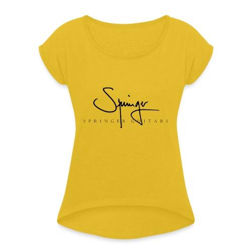 Logo Springer Guitars - T-shirt à manches retroussées Femme