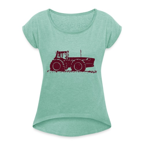 3588 - Women's T-Shirt with rolled up sleeves